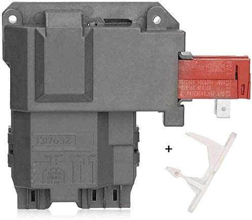 1317632 131763202 131763256 Washer Door Lock Latch Switch Assembly & 1317633 Door Strike for Frigidaire White-Westinghouse Crosley Electrolux GE Gibson Front Load Washer Replace 131763256 & 131763310 41uLS5vF46L