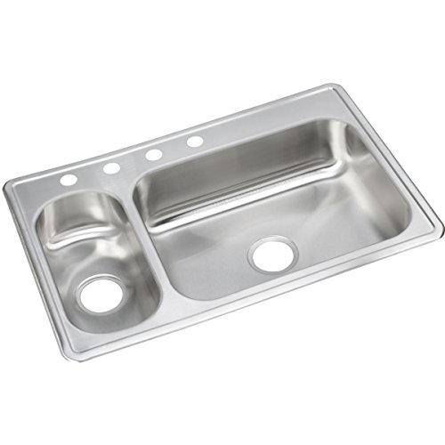 - Elkay DSEMR233224 Dayton 30/70 Double Bowl Drop-in Stainless Steel Sink