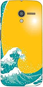 Snoogg The Great Wave Vector Background Designer Protective Back Case Cover F...
