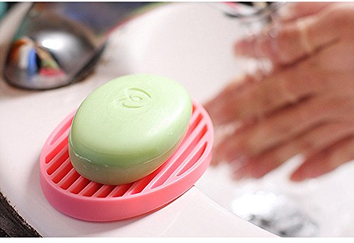 JD Million shop 1pcs candy color silicone Home travel Soap Dishes soap holder soap box with Cover bathroom set Soap Dish 4 color