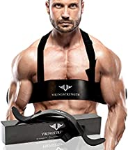 Vikingstrength Bicep Tricep Arm Blaster for Preacher Curl Effect Solid Arm Isolator Helps You Increase Muscles