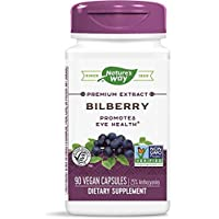 NATURE'S WAY BILBERRY STANDARDZ EXTR, 90 VCAP