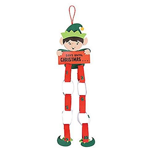 1 ~ Elf Christmas Countdown Paper Chain Craft Kit ~ New
