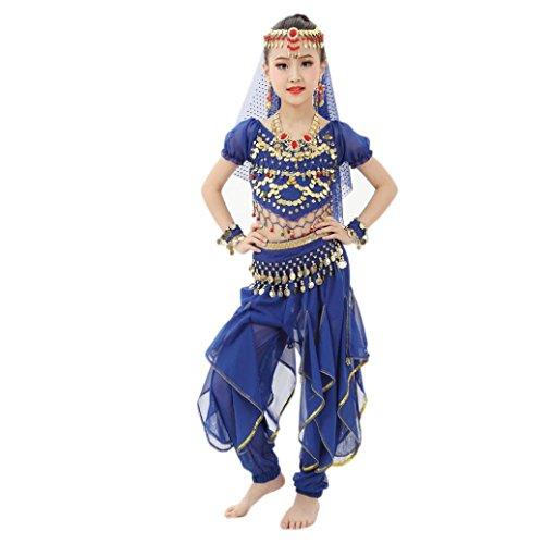 Allywit Handmade Children Girl Belly Dance Costumes Kids Belly Dancing Egypt Dance Cloth (M, (Handmade Childrens Costumes)