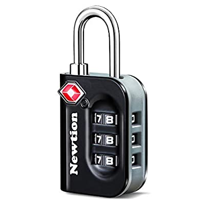 Newtion TSA Approved Luggage Lock,Travel Lock with Double Color Alloy Body,TSA Combination Lock for Luggage 1&2 Pack