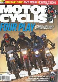 Motorcyclist Magazine March 2014 - Four Play: Affordable Dual Sports Accessible Adventure - BMW S100R & Kawasaki ()