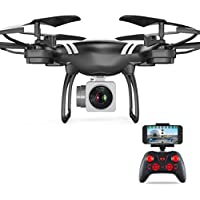 Ounice WiFi FPV Live RC Drone with Wide Angle Lens HD Camera, FPV Real Time Transmission 4CH RC Quadcopter with Altitude Hold 6 Axis Gyro RC Quadcopter (Black)