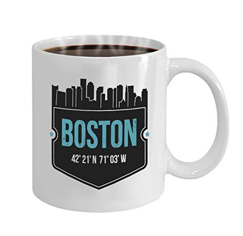 Funny Gifts for Halloween Party Gift Coffee Mug Tea boston city graphic design print typography emblem