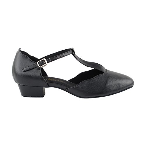 Party Dance Pumps amp; 2 Shades Evening by Ballroom Gold Swing 50 Waltz Theather Standard Of 5 Pigeon Heels 3 Art Smooth Dress Comfort Black Shoes Closed Party Shoes Leather Black Toe Tango Women 6819 Owqx4wn8