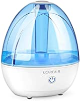 Cool Mist Humidifier – Humidifier for Bedroom, Quiet Mist Humidifier, High Low Mist, Waterless Auto-off, Night Light,...