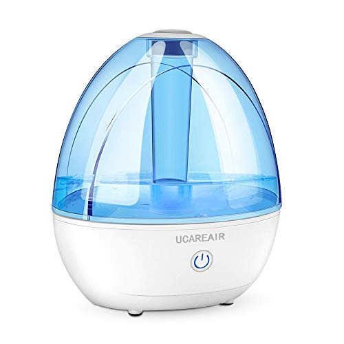 Cool Mist Humidifier - Humidifier for Bedroom, Quiet Mist Humidifier, High Low Mist, Waterless Auto-off, Night Light, Baby Kids Nursery, 2L Tank, Filterless Humidifiers for home office, ETL Approved