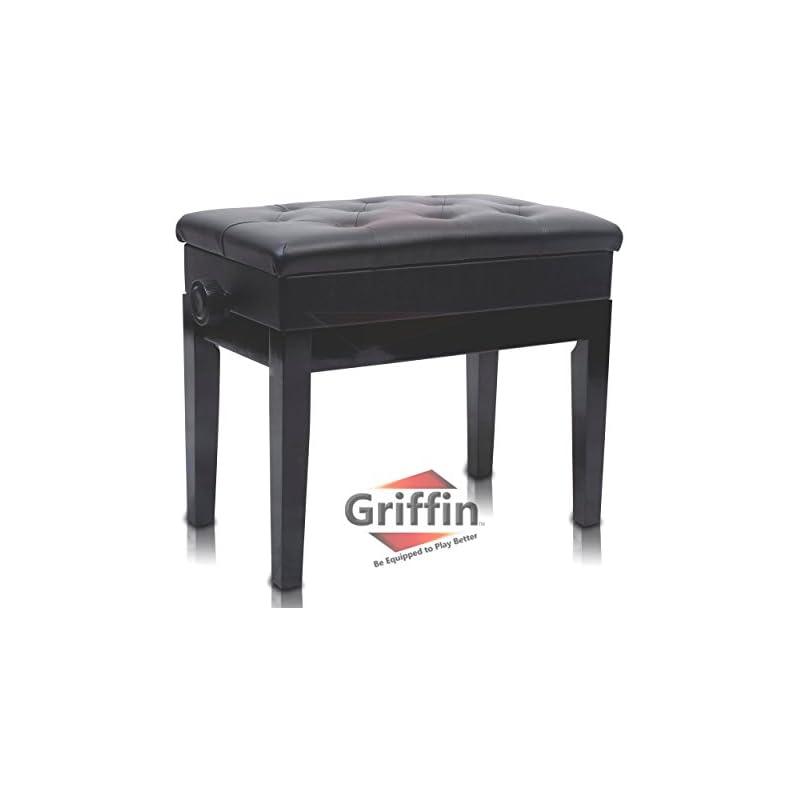 Premium Adjustable Antique Piano Bench B