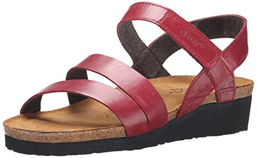 Kayla Wedge Naot Rumba Leather Women's Sandal 75FF8xwSq