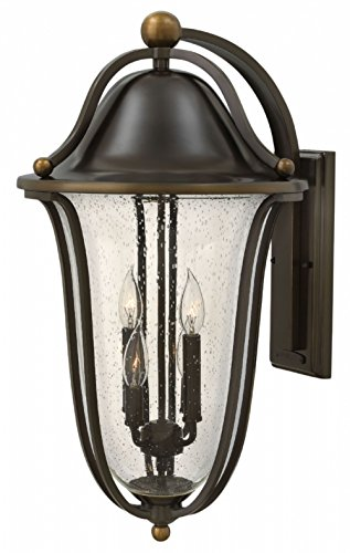 - Hinkley 2649OB Traditional Four Light Wall Mount from Bolla collection in Bronze/Darkfinish,
