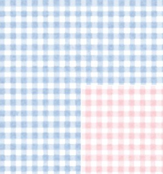 Amazon Com Baby Gingham Reversible Gift Wrapping Roll 24 X 16