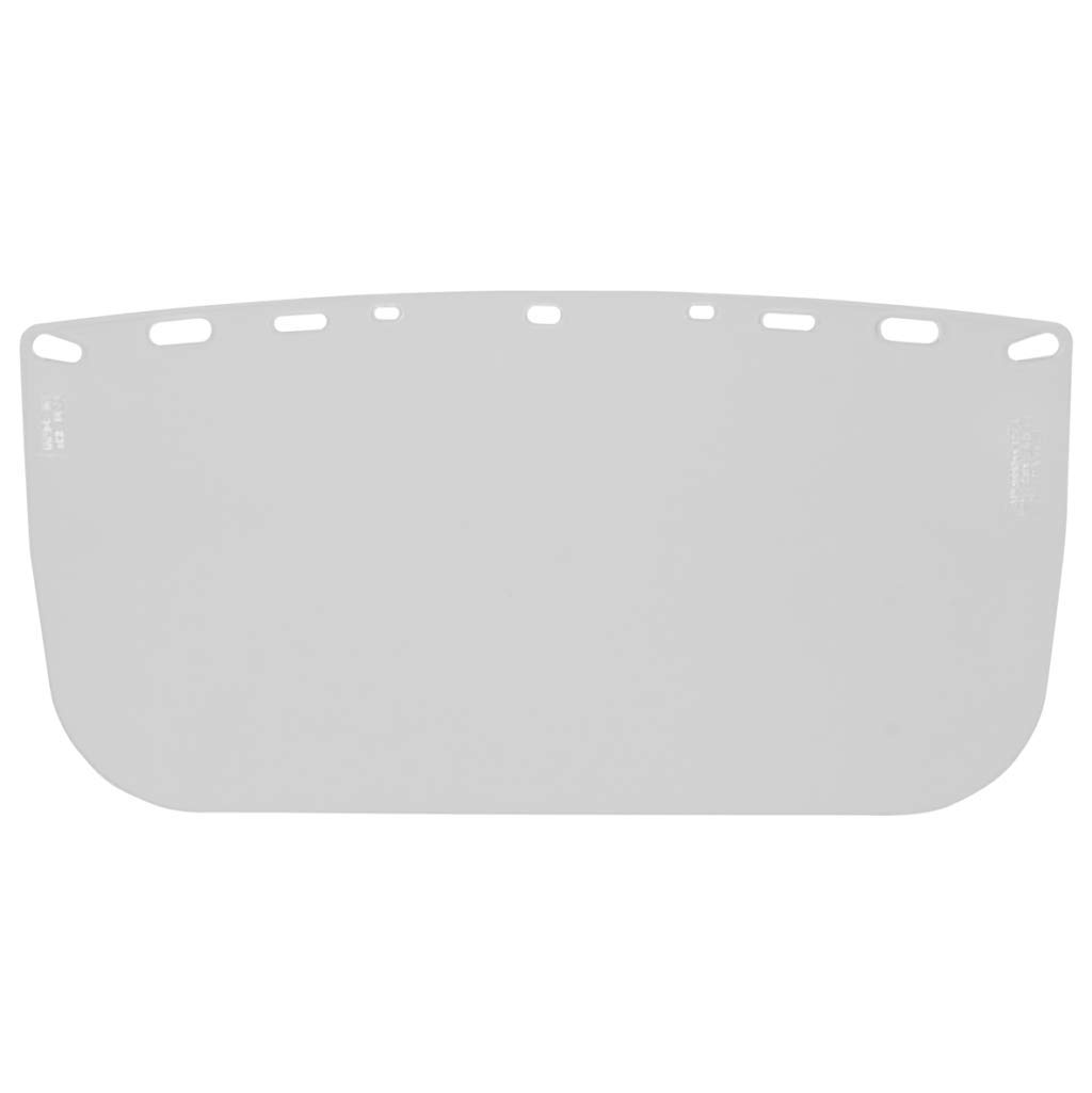 HFS1''Duo Safety'' Polyester Protective Face Shield - Pack of 20 Shields - For Use With a Hard Hat and Bracket