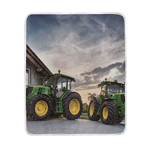 John Deere Collection (YOHHOY Blanket Comfort Warmth Soft Cozy Air Conditioning Fleece Blanket Perfect for Couch Sofa Or Bed - John Deere)