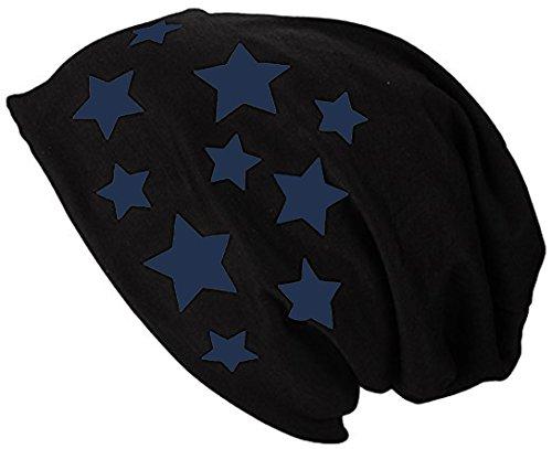 Summer Bonnet Long 2store24 Navy Jersey Spring hat Star Woman Man Beanie qAYxpxUa