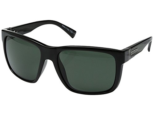 VonZipper Unisex Maxis Black Gloss/Vintage Grey One Size (Grey Polarized Max Black Lens)