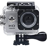 Leewa@ 2-inch LCD Waterproof Sport Action Camera Camcorder HD 1080P Mini DV Cam+ Parts for Gopro -Silver