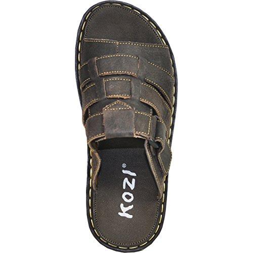 New Upper Leather 02 Men Geniune Sandal DIEGO Brown Kozi 8 5M fwaqn