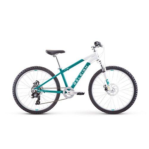 - Raleigh Bikes Eva 24 Kids Hardtail Mountain Bike for Girls Youth 8-12 Years Old, Teal