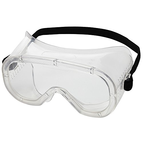 Sellstrom S81000 Advantage Series, Direct Vent, Protective Safety Goggle - Clear Body, Clear Uncoated Lens, Black Adjustable Strap ()