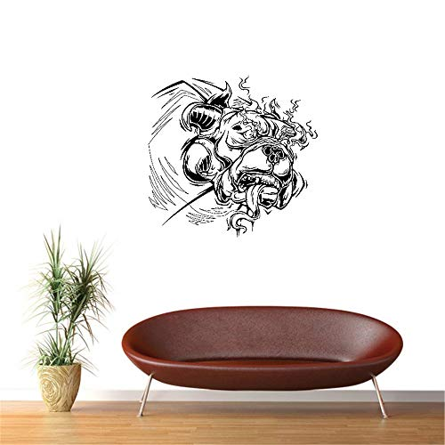maeria Wall Stickers Vinyl Words Sayings Removable Lettering Rabid Dog Pet Animal Flames Monster Madness 24