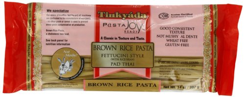 (Tinkyada Brown Rice Fettucini Gluten Free, 14-Ounce (Pack of 6) )