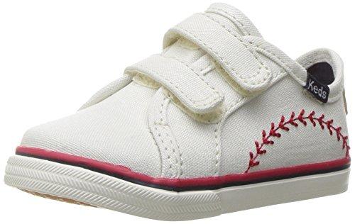 Keds Double Up Pennant Hook & Loop Sneaker (Infant/Toddler/Little Kid), Pennant, 4 M US Infant