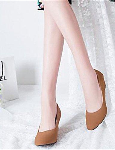 GGX/Damen Schuhe Synthetik Keilabsatz Heels Heels Office & Karriere/Casual Schwarz/Khaki black-us5 / eu35 / uk3 / cn34