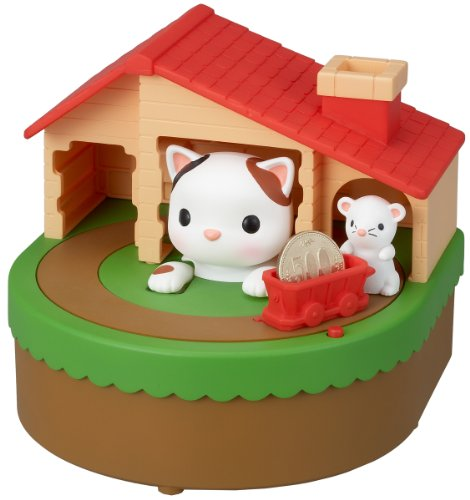 White Kitty Coin Bank