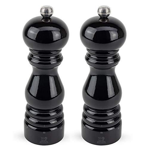 Peugeot Paris U'Select 7-Inch Pepper & Salt Mill Set, Black Lacquer (Lacquer Pepper Mill Black)