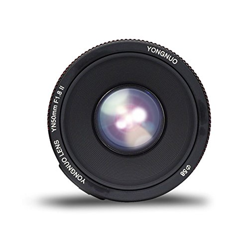 Yongnuo YN50MM F1.8 II AF/MF 0.35M Focus Distance Standard Prime Lens for Canon DSLR Camera by Yongnuo (Image #3)