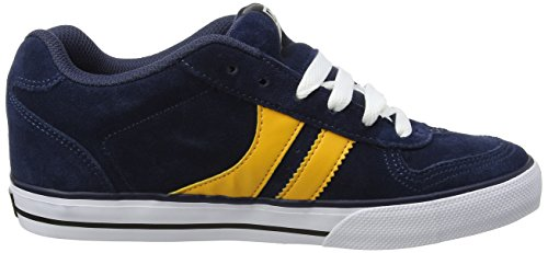 Blue Yellow 2 Skate Encore Navy Globe Navy Trainers Skateboard Yellow Shoes 108Twax