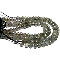 "JEWEL BEADS Beautiful jewelry AAA++ Quality Natural Labradorite Smooth Bolls Cabochon Beads Full 13"" Strand 4.5 mm/Natural Labradorite Cabochon beads Gemstone Multi Flashy Fire Code- UKA-10426"