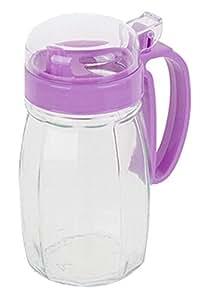 620ML Creative Kitchen Oil / Vinegar Cruet Square Glass Bottle Purple