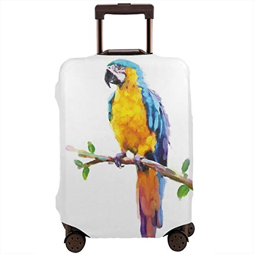 Travel Luggage Cover,Australian Wild Fauna Inspired Artwork Of Parrot Cockatoo Jungle Bird In Lively Colors Suitcase Protector