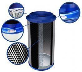 Filtre /à charbon BullFilter 150x500 mm 1000m3//h australian carbon