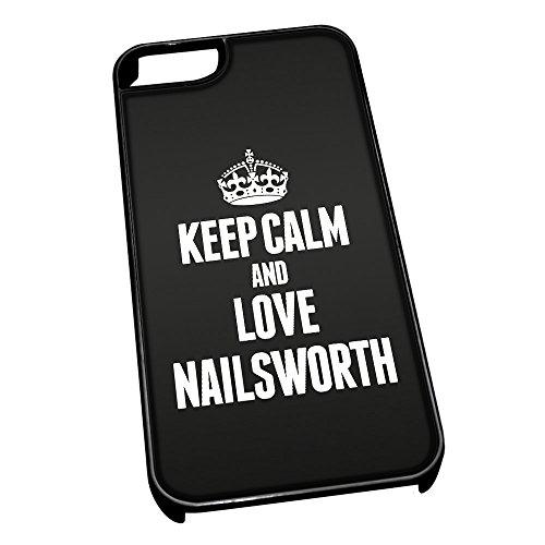 Nero Cover per iPhone 5/5S 0448NERO Keep Calm e Love nailsworth