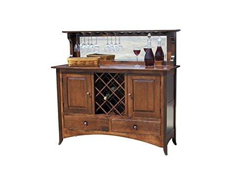 Jangir JDBF223 Bar Cabinet (Medium Glossy Finish, Walnut)