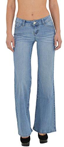 by-tex Jean Femme Bootcut Jean pour Femmes Pantalon Boot Cut Jeans J170 J170