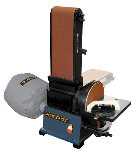 POWERTEC BD6900 Woodworking Belt Disc Sander w/ Built-In Dust Collection, 6 x 9-Inch