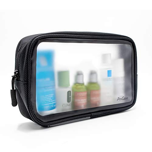 Procase TSA Approved Travel Toiletry Bag Pouch, Matte Clear Travel Organizer Airport Carry-On Checkpoint Airline…