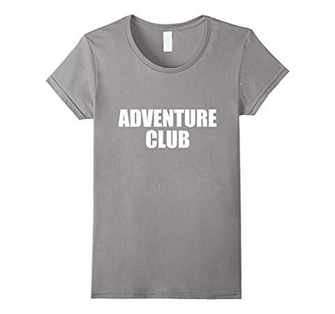 Womens Adventure club tshirt Medium Slate - Club Ladies Tee