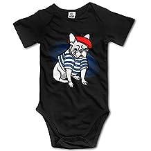 Custom Super French Bulldog Baby Girl And Boy Climbing Cartoon Short Sleeve T [ -