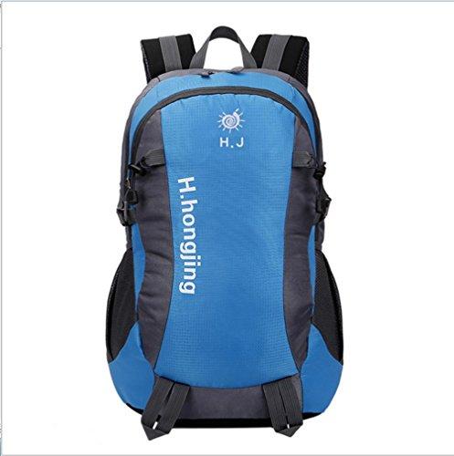 BUSL Sencillas de gran capacidad al aire libre del alpinismo de nylon impermeable de la conducción deportiva bolsa de viaje bolsa de hombro del ocio . blue Blue