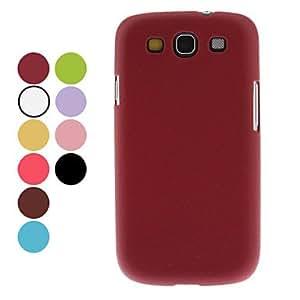 conseguir Cuero de grano del caso duro del patrón para Samsung Galaxy S3 I9300 (colores surtidos) , Rojo