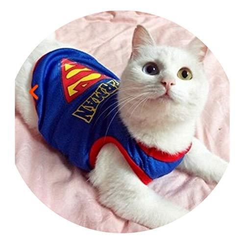 Funny pet catclothing Police cat Clothes Cool Suit Uniform with hat Suit Nurse Supplies for Pets,Blue Vest,3