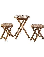 Save big on Sunset Garden SG85 | Oria Outdoor Bistro 3-Piece Real Wood Patio Set, Natural